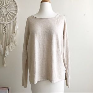 H&M light weight basic tan sweater